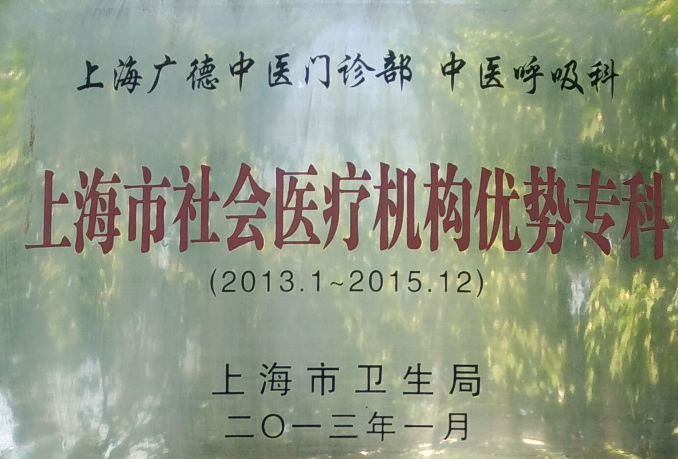 上海社会医疗机构优势专科